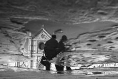 A classic reflection, Florence - Leica M246+Summicron 28 asph (Francesco Vastola) Tags: street reflection leica monochrom bw florence firenze leicam