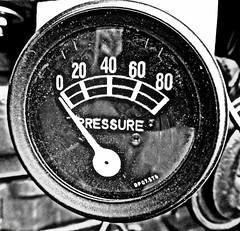 No pressure (Jackal1) Tags: words blackwhite bw monochrome pressuregauge numbers