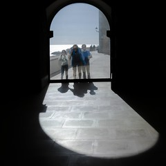 Two way mirror. (elavats) Tags: spain sitgesspain museudemaricel reflection people sea sky architecture shadow light shadowlight frames fineart mirror catalonia sitges barcelona