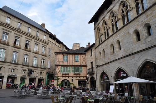 Place Champollion, Figeac, Quercy, Lot, Occitanie, France