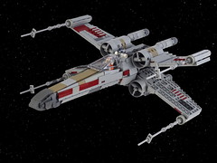 Red Five X-wing starfighter (Swan Dutchman) Tags: lego starwars xwing t65b starfighter rebels rebelalliance spaceship sfoils battleofyavin incomcorporation anewhope