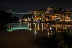 High water springs..... (Dafydd Penguin) Tags: night shots hawks after dark tripod slow shutter speed long exposure scene city urban bridge clifton suspension brunel water sea tide high springs river avon gorge hotwells lights stars lightstars dock harbour harbor port quay quayside waterside harbourside lock cumberland basin leica m10 summicron 35mm f2 asph
