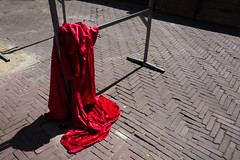 L1160013-2.jpg (Bulent Acar) Tags: amsterdam street cloth colour red