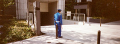* (Sakulchai Sikitikul) Tags: street snap streetphotography 24mm panorama film kodak portra 400 japan japanese security osaka