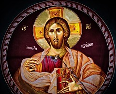 Looking down, looking back (Phancurio) Tags: cyprus profitiselias orthodoxy church imageofchrist past future