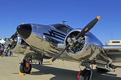 Travis AFB Airshow 2019 1954 Beech D18S N3532B _04 (Walt Barnes) Tags: canon eos 60d eos60d canoneos60d wdbones99 airfield airstrip aerodome aeronautics aerodynamics flight afb airforcebase airshow display travis travisafb calif ca beechcraftmodel18 beech d18s