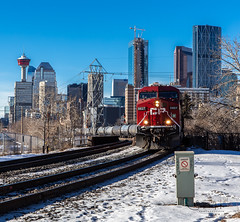 IMG_6155 (Scott Martin - Photographer) Tags: calgary alberta canada ca inglewood cprail traintracks train calgaryskyline skyline