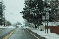 NY474 East - NY426 North Signs (formulanone) Tags: newyork snow ny474 474 ny426 426