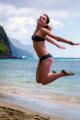 Kauai (pbuschmann) Tags: russian kauai hawaii happy jumping flying napalicoast