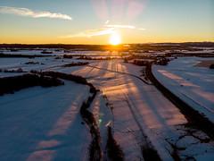 Sunrise (stefan.bayer) Tags: drone allgäu aerial leutkirch clouds wolken trees bäume baum tree feld street road buildings sb birdseye dji mavic fc2103 djifc2103 blue sky yellow himmel