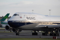 G-BYGC Boeing 747-436 BOAC (eigjb) Tags: dublin airport ireland eidw international collinstown jet airliner transport plane spotting aviation aircraft airplane aeroplane gbygc boe retro livery british airways b747 747 jumbo painting 100th anniversary lump 747400 special