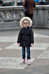 Winter microfashion* (jeremyhughes) Tags: london winter trafalgarsquare microfashion tribute fur furry furryhood fashion bundledup weather cold chilly outdoor sneakers pink candid street nikon d750 nikkor 80200mmf28