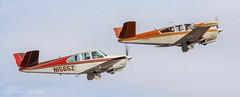 Beech P35 and K35 Bonanzas N1565Z N5364E (ChrisK48) Tags: 1961 aircraft b2osh n1565z kdvt airplane beechk35 1959 bonanzastooshkosh beechp35 beechcraft phoenixaz bonanza n5364e dvt phoenixdeervalleyairport