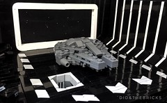 Death Star Hangar (did b) Tags: starwars deathstar milleniumfalcon sw lego legomoc moc legostarwars legophoto diorama art creation sculpture