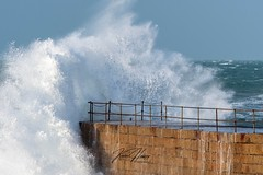 Crashing Waves (hussey411) Tags: storm wave waves cornwall porthlevenharbour porthleven uk
