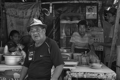 Curious looks (Beegee49) Tags: street food people staring curious blackandwhite monochrome bw luminar sony a6000 bacolod city philippines asia happyplanet asiafavorites