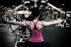Female bodybuilder (ABWphoto!) Tags: female gym weights lifting exercise one person inside muscles back shoulders arms fitness healthy living