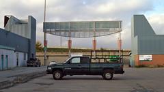 (geowelch) Tags: toronto etobicoke gta urbanlandscape newtopographics sky clouds signage pickup parkinglot panasoniclumixgvario1232mm3556 panasoniclumixgx1