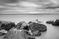 On The Rocks (Long Exposures/Nature In Landscapes) Tags: ontherocks fineart monochrome longexposure ndfilters naturescenesfromwales welshscenicviews colwynbay northwales unitedkingdom