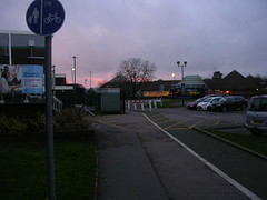 DSCN6145 (southglosguytwo) Tags: 2018 buildings december hometown leisurecentre signs sky sundown southgloucestershire yate cars carpark trees
