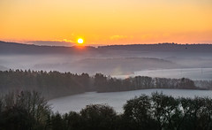 icy sunrise (Wöwwesch) Tags: sunrise winter icy hills landscape sunny cold frozen woods forest trees eifel walk