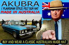 Akubra Oz Cars  part 10 (Make Oxygen... Kill Co2...Plant More Trees) Tags: akubra plainsman flag australia australian tweed mens dapper farmer oldman country sign poster vintage retro outdoor tweedjacket houndstooth gentlemans gentlemen ride darwin brisbane adelaide perth canberra melbourne sydney australianmademensaukubahat headgear sunhat car cars auto autos vehicle vintagecar oldcar australiancar vintagecarclub manwearingakubrahat farming distinguished fashion motoring parked onshow 2019 2020 racetrack races horse racing track