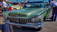 1959 Buick Invicta. (ManOfYorkshire) Tags: connecticut american usa yank car auto automobile motoring classic run londontobrighton 2018 buick invicta 6600cc petrol engine 1959 brighton seafront madeiradrive metallic green sunshine