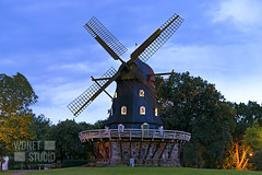 Wooden windmill in Malmo at dusk (WDnet) Tags: dusk evening goldenhour sweden windmill malmo landmark architecture mill europe landscape nature scandinavia city building skane old outdoor slottsmollan travel wind historic countryside traditional rural heritage vintage kungsparken scandinavian wooden retro exterior nordic swedish farm grass park sunset tree sightseeing sverige town attraction historical tourism downtown cityscape wood famous d750