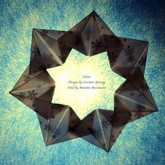 Clara (AnkaAlex) Tags: origami origamiart origamistar modulorigami modular modul star paperfolding paper paperfoldingart carmensprung bluestar