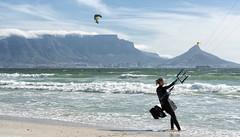 Kite Surfing Mecca (Rob Millenaar) Tags: southafrica bloubergstrand dolphinbeach capetown lionshead tablemountain kitesurfing