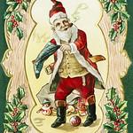 Santa Claus on a Christmas card thumbnail