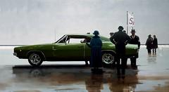 1968 Dodge Charger R/T - Pendine Beach Charger (1968 Dodge Charger R/T | Scott Crawford) Tags: 1968 1968charger 1968dodgecharger scott scottcrawford jackvettriano vintage classic musclecar beach pendine pendinebeach art parody pendinesands car races