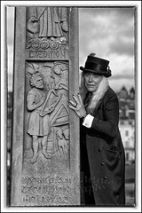 IMG_0210 (Scotchjohnnie) Tags: whitbygothweekendapril2018 whitbygothweekend wgw wgw2018 whitby goth gothic costume yorkshire northyorkshire portrait people male stmarysgraveyard blackwhite mono monochrome canon canoneos canon6d canonef24105mmf4lisusm scotchjohnnie closeup