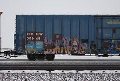 Ich (quiet-silence) Tags: graffiti graff freight fr8 train railroad railcar art ich ichabod yme circlet boxcar miniridge goldenwest drgw50648