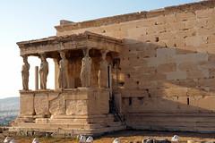 The Caryathid porch of the Erechteion on the Acropolis hill (routemates) Tags: europe athens greece antiquity mediterranean acropolis lycabetus parthenon