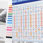 駅構内業務掲示 制作プロセスの写真
