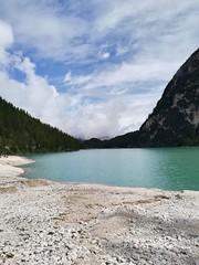 Braies Lake (saraponci) Tags: naturephotography natur cielo canon outside braies lake lago azure blue mountains ciel naturaleza italy italia travel
