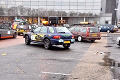 Start Carbage Run winter 2019 - Kopenhagen (FaceMePLS) Tags: kopenhagen copenhagen denemarken denmark scandinavië facemepls nikond5500 rally car voiture pkw wagen voertuig xppb67 1999subaruimpreza carbageteam7593 thecounts