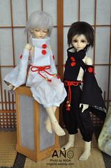 月狩 White & Black (miga53) Tags: bory yano bjd