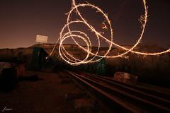 Espirales de fuego (rayito1986) Tags: yellow amarillo fire fuego noche night viastren