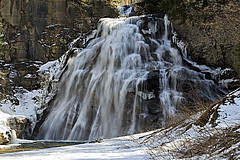Waterfall (Created by M) Tags: waterfalls winter