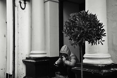 Smoke and Text (Bury Gardener) Tags: monochrome mono burystedmunds bw blackandwhite britain suffolk streetphotography street streetcandids snaps strangers candid candids people peoplewatching folks nikond7200 nikon 2019 england eastanglia uk abbeygatestreet