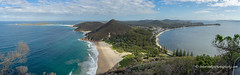 Port Stephens from Tomaree Mountain (Peter.Stokes) Tags: australia australian clouds coast colour colourphotography landscape landscapes nsw nature newsouthwales outdoors panorama photo photography river sea sky sunset vacations water waves winter awayfromitall