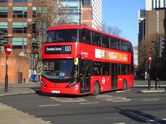 AL HA49 - LK66HBZ - ELEPHANT & CASTLE - THU 17TH JAN 2019 (Bexleybus) Tags: ec elephant and castle underground station london road newington causeway arriva adl dennis enviro 400 city tfl route hybrid 133 ha49 lk66hbz