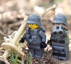 Custom Lego Minifigure of the Week! (BrickWarriors - Ryan) Tags: custom lego minifigure wwii ww2 weapon helmets gun guns army armor war brick minifig