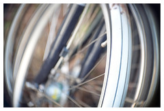 Circles of confusion (leo.roos) Tags: bicycle bike fiets circle wheel wiel haarlem dm 2019 angénieux7015 angenieux a7rii angénieuxparisf70115 projectorlens projectionlens darosa leoroos