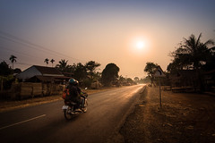 Heading west, Bolaven plateau, Laos (pas le matin) Tags: voyage travel laos lao world asia asie southeastasia road route west ouest sun soleil sunset coucherdesoleil sky ciel tree arbre bike motorbike moto light lumière canon 7d canon7d canoneos7d eos7d landscape paysage bolaven bolavenplateau