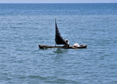 Man in a boat (sirhowardlee) Tags: man boat lancha sea ocean mar agua water sailing
