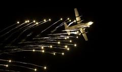 Royal Australian Air Force (A97-???) Lockheed Martin C-130J Hercules dispensing flares. (peter.tocher) Tags: royal australian air force a97 lockheed martin c130j hercules dispensing flares