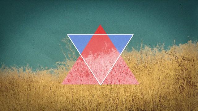 Обои треугольник, абстракция, светлый, трава картинки на рабочий стол, фото скачать бесплатно
